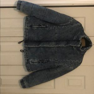 American Eagle quilted chambray jacket